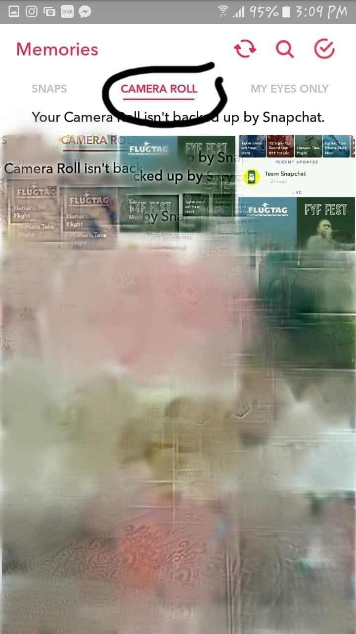 camera roll الصور المحفوظة على الهاتف