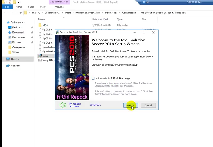 تحميل لعبة بيس 2018 للكمبيوتر