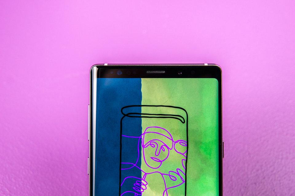 شاشة هاتف Galaxy Note 9