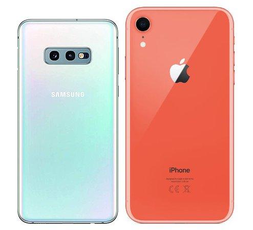 Galaxy S10e , iPhone XR